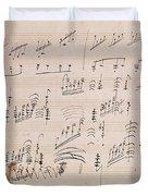 Score Sheet Of Moonlight Sonata Duvet Cover