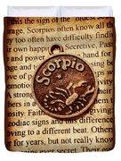 Scorpio Parchment Duvet Cover