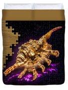 Scorpion Shell Puzzle Duvet Cover