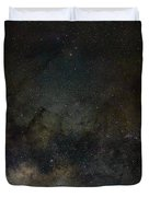Scorpius And The Milky Way Duvet Cover