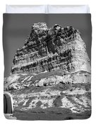 Scots Bluff Black And White Duvet Cover