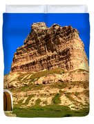 Scots Bluff National Monument Duvet Cover