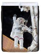 Scott Kelly, Expedition 46 Spacewalk Duvet Cover