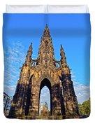 Scott Monument, Edinburgh, Scotland Duvet Cover