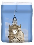 Scott Statue And Balmoral Clock Tower Duvet Cover