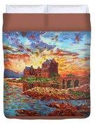 Scottish Castle - Eilean Donan Duvet Cover