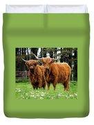 Scottish Highland Cows Duvet Cover