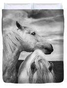 Scottish Horses Duvet Cover by Diane Diederich