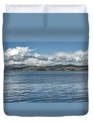 Scottish Panorama Over The River Clyde Duvet Cover
