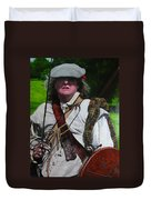 Scottish Soldier Of The Sealed Knot At The Ruthin Seige Re-enactment Duvet Cover