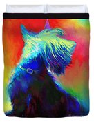 Scottish Terrier Dog Painting Duvet Cover by Svetlana Novikova