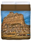Scotts Bluff National Monument Duvet Cover