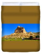 Scotts Bluff National Monument Panorama Duvet Cover