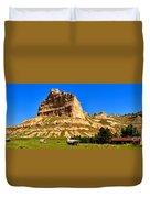 Scotts Bluff National Panoramic Landscape Duvet Cover