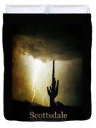 Scottsdale Arizona Fine Art Lightning Photography Poster Duvet Cover