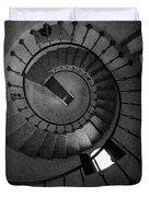 Scottys Castle Stairwell B W Duvet Cover