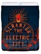 Scranton - The Electric City Duvet Cover