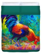 Scratchin' Rooster Duvet Cover