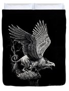 Screaming Griffon Duvet Cover