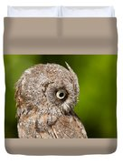 Screech Owl Portrait Duvet Cover