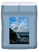 Scripture And Picture Genesis 9 16 Duvet Cover by Ken Smith