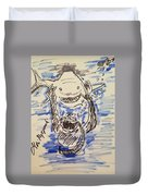 Scuba Diving With Sharks Duvet Cover