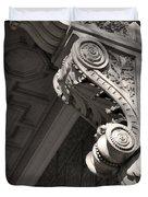 Sculpted Balcony Bracket Budapest Duvet Cover