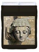 Sculpted Head Of Woman. Duvet Cover