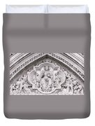 Sculpture Above North Entrance Of Westminster Abbey London Duvet Cover