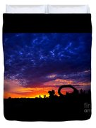 Sculpture By The Sea - Sunset Silhouette By Kaye Menner Duvet Cover