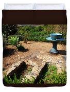 Sculpture Garden In Sicily Duvet Cover