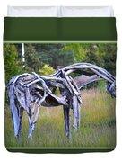 Sculpture Of Horse Duvet Cover