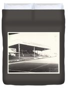 Scunthorpe United - Old Showground - Main Stand 1 - Bw - 1960s Duvet Cover