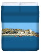 Sea And Sky Duvet Cover by Julian Perry