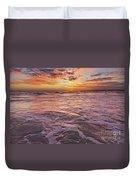 Sea At Sunset In Algarve Duvet Cover