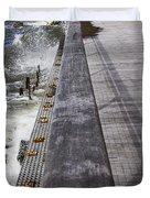 Sea Cliff Seawall Boardwalk Duvet Cover