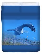 Sea Dragon And Anchor Duvet Cover