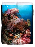 Sea Fans And Soft Coral, Fiji Duvet Cover