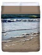 Sea Foam At The Shore Duvet Cover