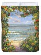 Sea Grape Heart Duvet Cover