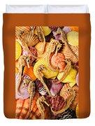 Sea Horses And Sea Shells Duvet Cover