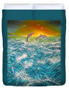 Sea In Action Duvet Cover