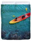 Sea Kayaking Duvet Cover