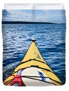 Sea Kayaking Duvet Cover