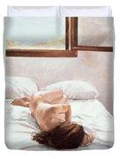 Sea Light On Your Body Duvet Cover by John Worthington