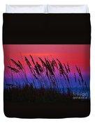 Sea Oat Sunset Duvet Cover