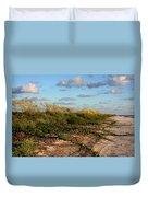 Sea Oats Along The Beach Duvet Cover