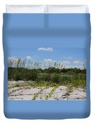 Sea Oats And Blooming Cross Vine Duvet Cover