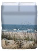 Sea Oats By The Ocean Duvet Cover