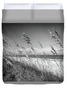 Sea Oats In Black And White Duvet Cover